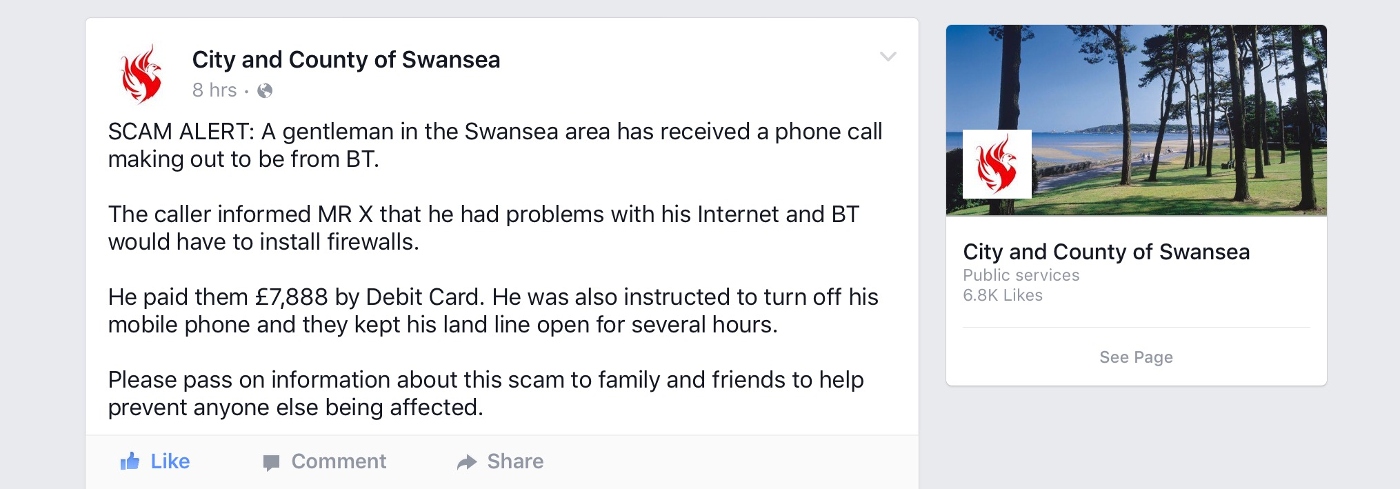 """BT Scam"" hits hard in the pocket"